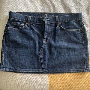 7 For All Man Kind Roxy Denim Mini Skirt